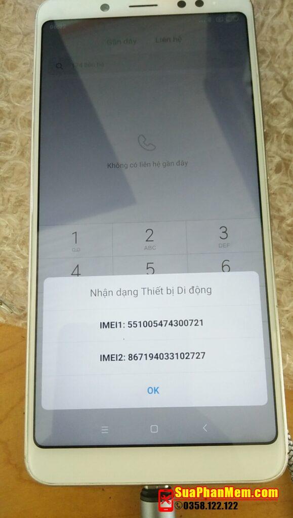 Xiaomi Redmi Note 5 Pro mất imei sửa thành công bằng phần mềm