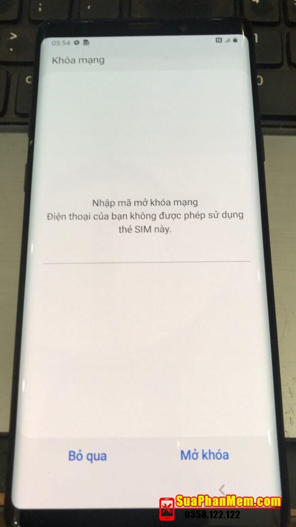 Mở mạng Samsung Galaxy Note 9 SM-N960U nhà mạng AT&T